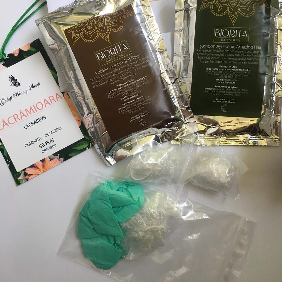 Biorita Vopsea Pentru Păr Henna Neagră și șampon Natural Indian
